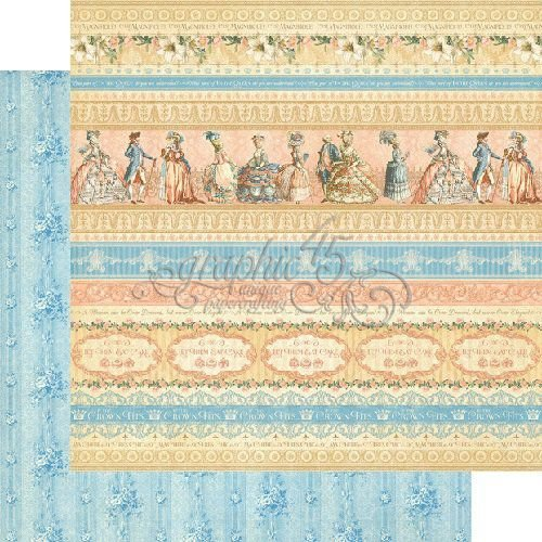 Papel Scrapbook 30x30 Dupla Face - Royal Gardens - Gilded Lily Collection - Graphic 45