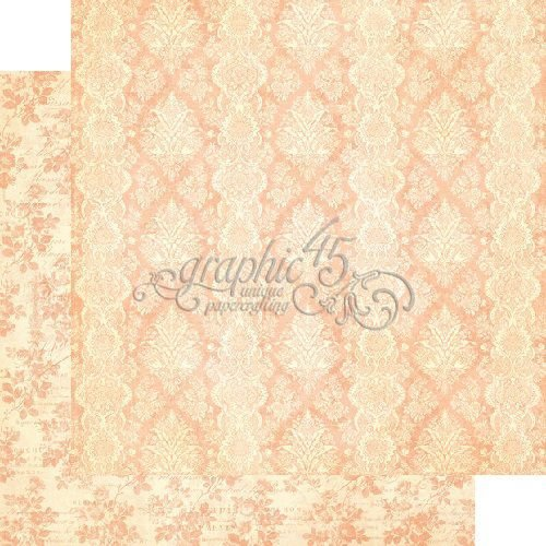 Papel Scrapbook 30x30 Dupla Face - Golden Age - Gilded Lily Collection - Graphic 45