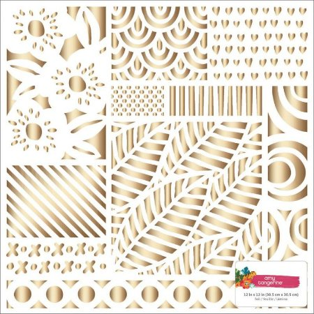 Papel especial 30x30 Foil Amy Tangerine - American Crafts