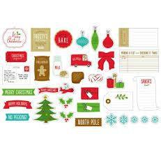 Embellishments  Be Merry - Ephemera - Cookies - American Crafts