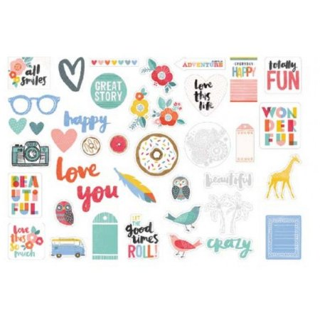 Die cuts em papel e acetato Oh Happy Life - Amy Tangerine - American Crafts