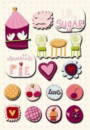 Adesivo 3D Sweet Cheri Imaginesce