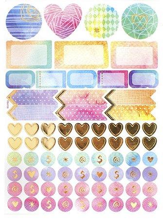 Adesivos Organizadores Selos Decorativos - Amor - TEC