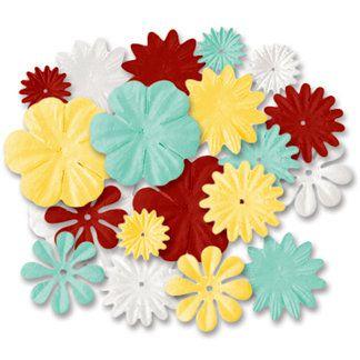 Flores de papel com 20 peças - Teachers Bouquet- Imaginisce
