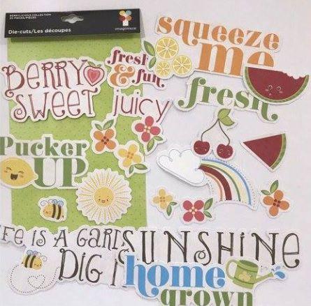 Die Cuts - Frutas coloridas com frases - Imaginisce