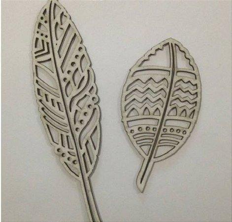 Apliques em chipboard Penas - Arte Fácil