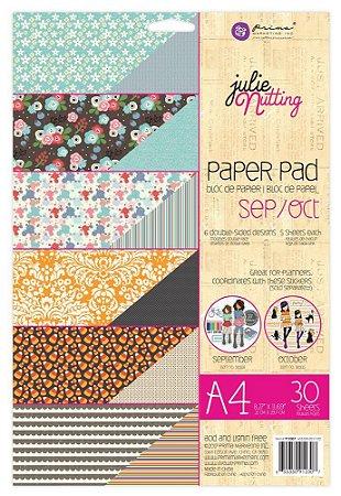 Bloco de papéis scrapbook A4 - Sep/Oct -  Julie Nutting - Prima