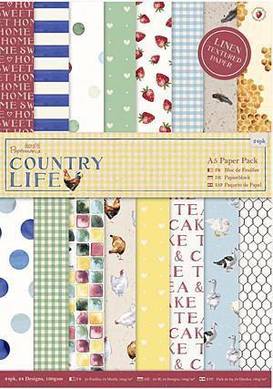 Bloco de papel texturizado 15x21 Country Life A5 - Docrafts