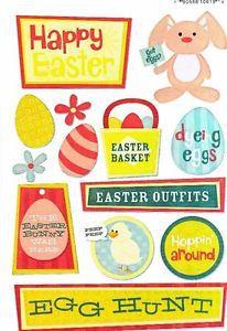 Adesivos Páscoa - Happy Easter - Karen Foster