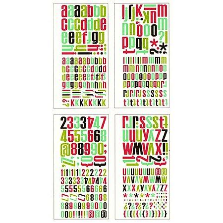 Adesivos Alfabeto coloridos - American Crafts