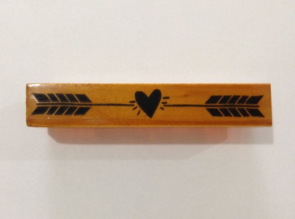 Carimbo de madeira Coração com Flecha - Arte Fácil