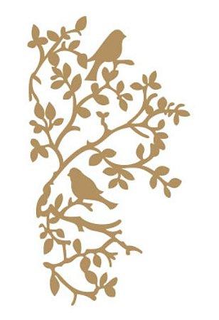 Apliques em MDF Pássaros - Arte Fácil