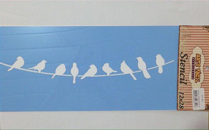 Stencil Pássaros - Arte Fácil
