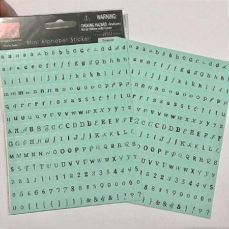 Adesivos alfabeto Verde Turquoise - My Little Shoebox