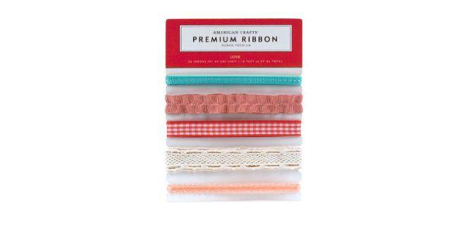Kit de fitas Love Premium Ribbon - American Craft