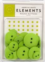 Botões  Verde Limão - Keylime com 24 peças - American Crafts