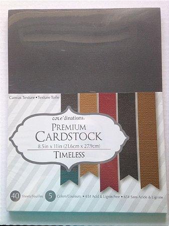 Bloco de papel cardstock A4 Neutros - TImeless - Core dinations