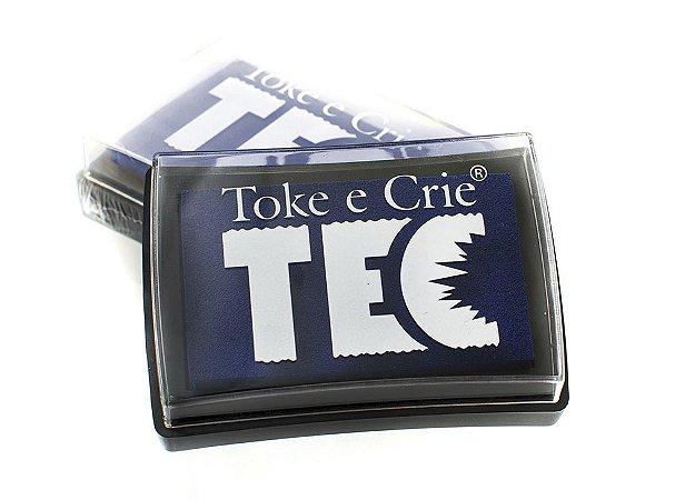 Almofada para carimbo tamanho maior Azul - Toke e Crie