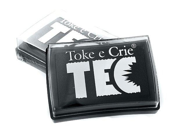 Almofada para carimbo tamanho maior Cinza escuro - Toke e Crie