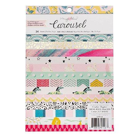 Bloco de papéis 15x20cm Carousel - Maggie Holmes - Crate Paper