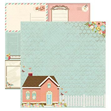 Papel Scrapbook - Minha Família - Casa - Toke e Crie