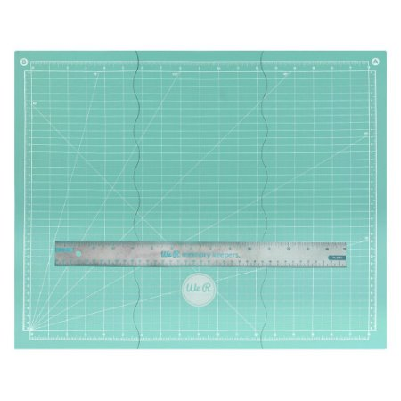 Base de corte magnética dobrável 35 x 45cm com régua - We R