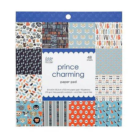 Bloco de papéis 15x15 Prince Charming - Infantil - Love Nicole