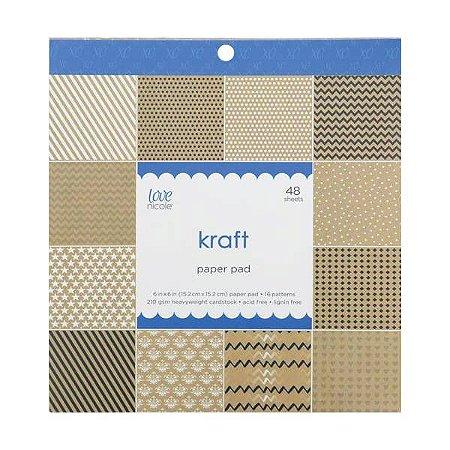 Bloco de papéis 15x15 Kraft  - Love Nicole