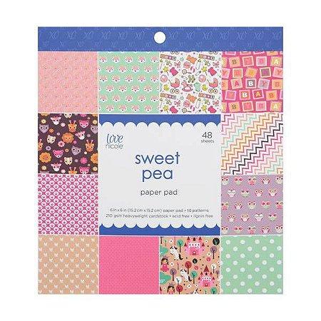Bloco de papéis 15x15 Sweet Pea - Infantil - Love Nicole
