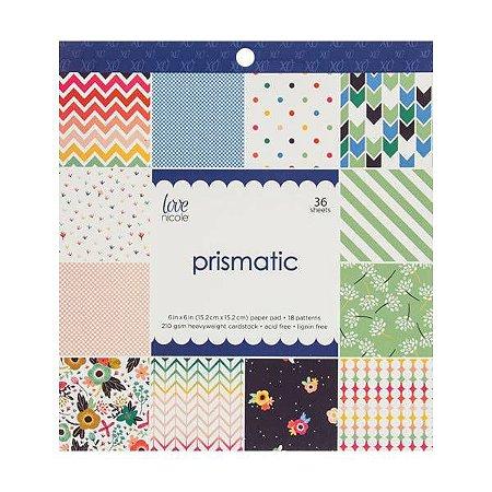 Bloco de papéis 15x15 Prismatic - Love Nicole