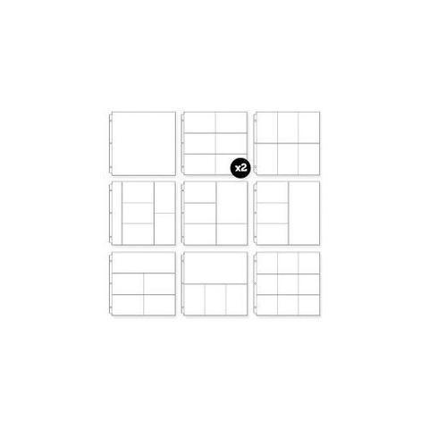 Kit de Refil plástico para álbum de scrapbook (compatível com Project Life) com 10 unidades- We R