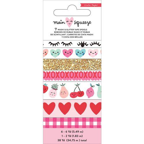 Kit de washi tape com 7 unidades Main Squeeze - Crate Paper