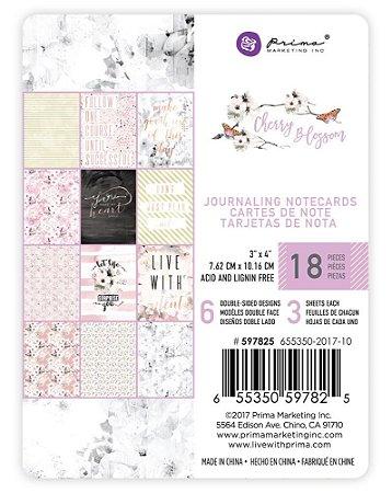 Bloco de cards com foil 7,5x10 - Cherry Blossom - Prima