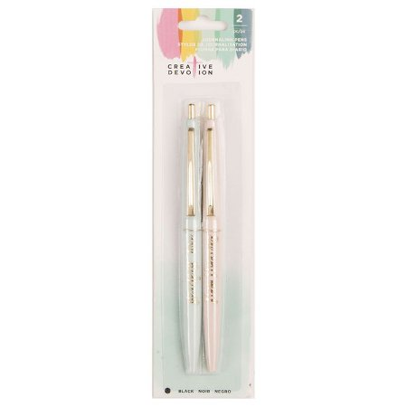 Kit 2 canetas pretas para journaling - Creative Devotion - American Crafts