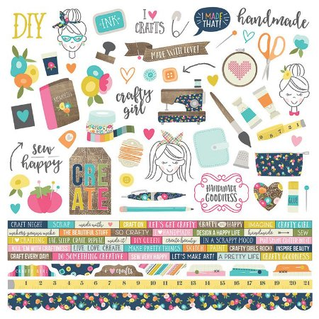 Adesivo 30x30 - Crafty Girl - Simple Stories