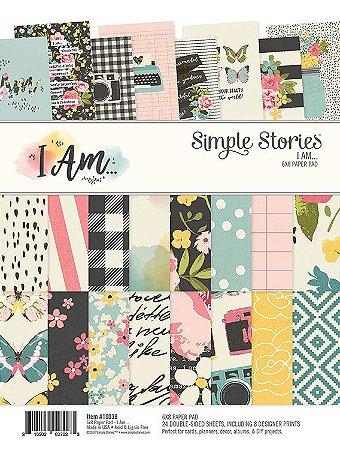 Bloco de papéis 20x15cm - I am - Simple Stories