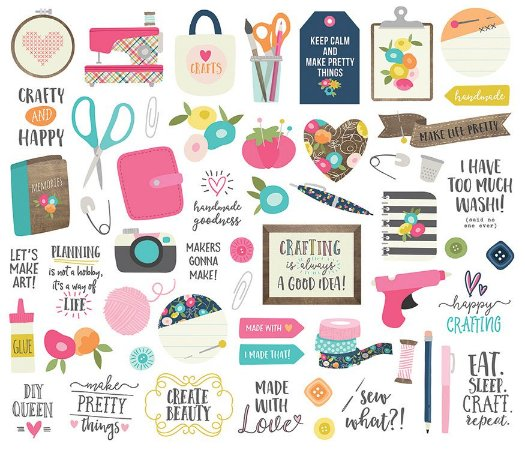 Die Cuts - Bits And Pieces - Crafty Girl - Simple Stories