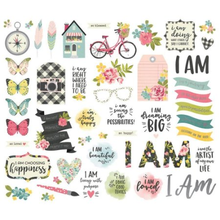 Die Cuts - Bits And Pieces - I am - Simple Stories