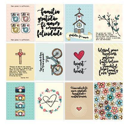 Papel de scrapbook Crença - Gratidão, Fé e Deus - Goodies