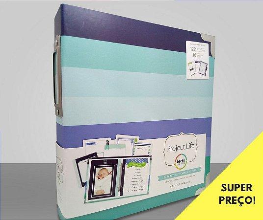 Álbum Kit 15x 20cm para Bebê Menino - Baby Boy - Project Life