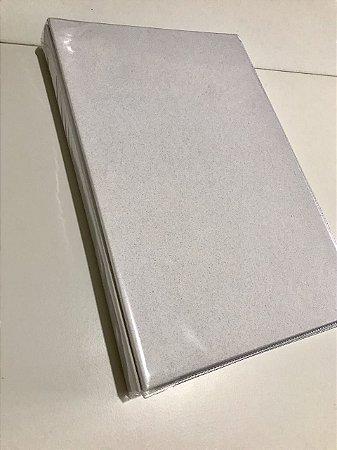 Álbum grande de scrapbook liso para 300 fotos 10x15 Branco Gelo - Paperchase