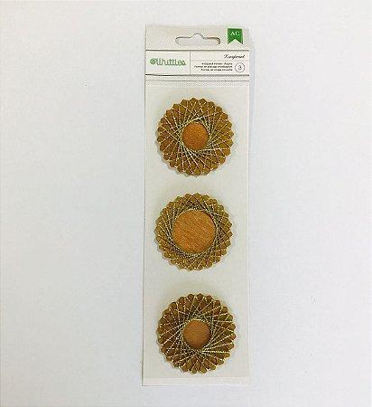 Aplique adesivado - MDF - Kringlemint - American Crafts