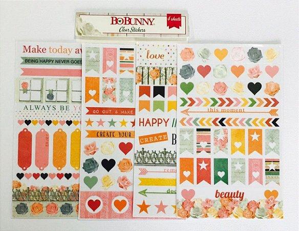 Embalagem com 04 cartelas de adesivo - Bobunny