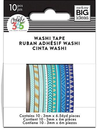 Kit com 10 washi tape fininhas Create 365 - WTSS-02- Me & My Big Ideas