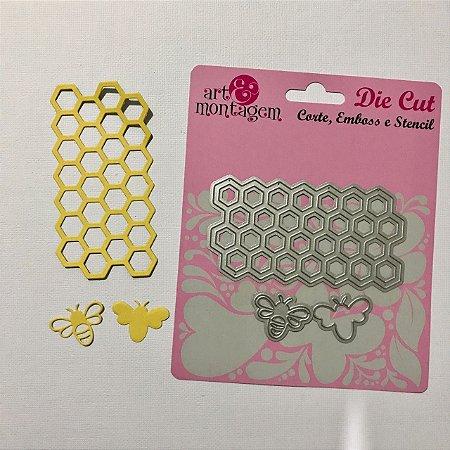 Kit de facas 3 peças FAC002 Favo e abelha - Art e Montagem