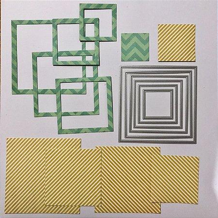 Kit de facas 6 peças FAC027 Quadrado/Moldura - Art e Montagem