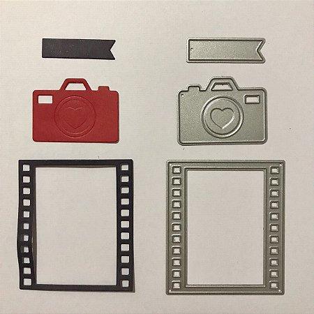 Kit de facas 3 peças FAC007-A - Máquina fotográfica - Art e Montagem