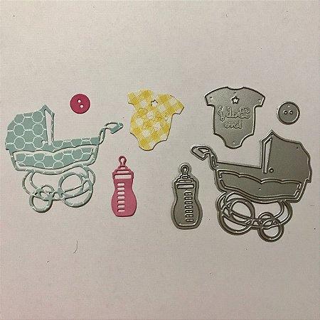 Kit de facas 4 peças FAC042-B Carrinho de bebê - Art e Montagem