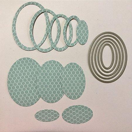 Kit de facas de corte Oval 5 peças FAC030 - Art e Montagem
