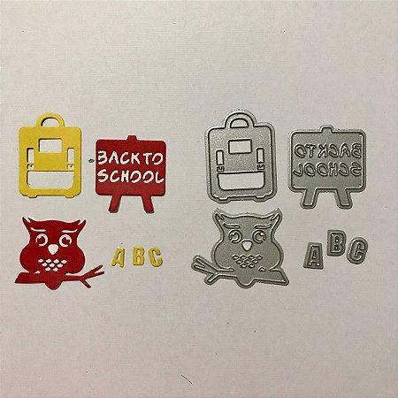 Kit de facas de corte 4 peças Escola FAC064-B - Art e Montagem
